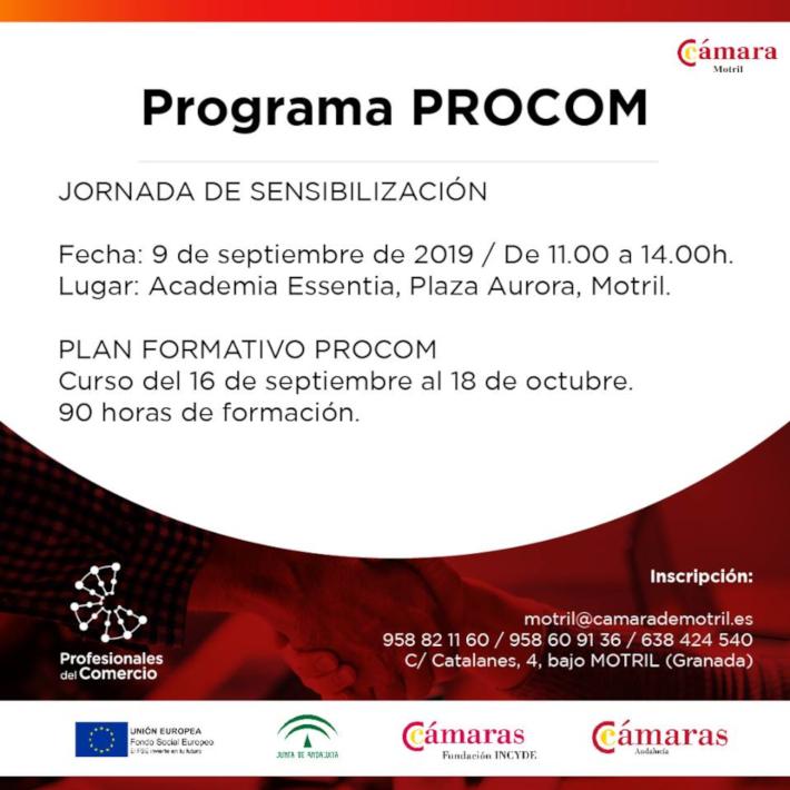La Cámara de Comercio de Motril comienza con la jornada de sensibilización y el plan formativo del programa Profesionales del Comercio, PROCOM