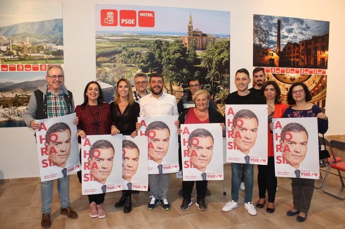 """El PSOE de Motril inicia la campaña pidiendo el voto para Pedro Sánchez """"ante la abstención que busca la derecha"""""""