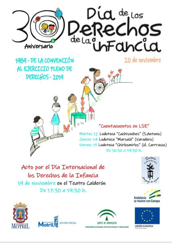 Motril celebra el Día Internacional de los Derechos de la Infancia el próximo 19 de noviembre