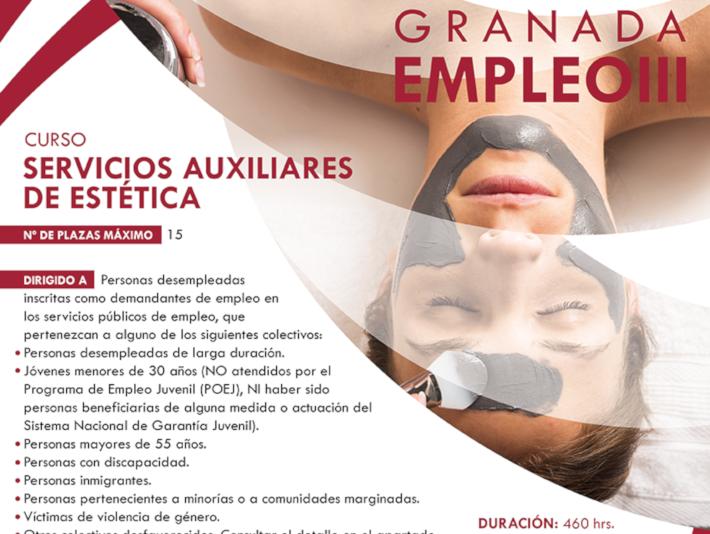 """Salobreña participa en el proyecto """"Granadaempleo III"""" con un curso de servicios auxiliares de estética"""