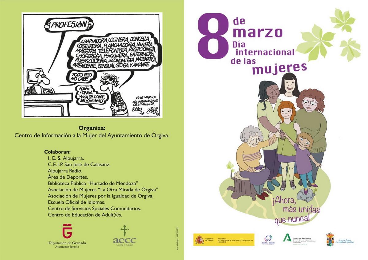 Dia Del Trabajador Mujeres Órgiva celebra las xxviii jornadas de la mujer con el lema