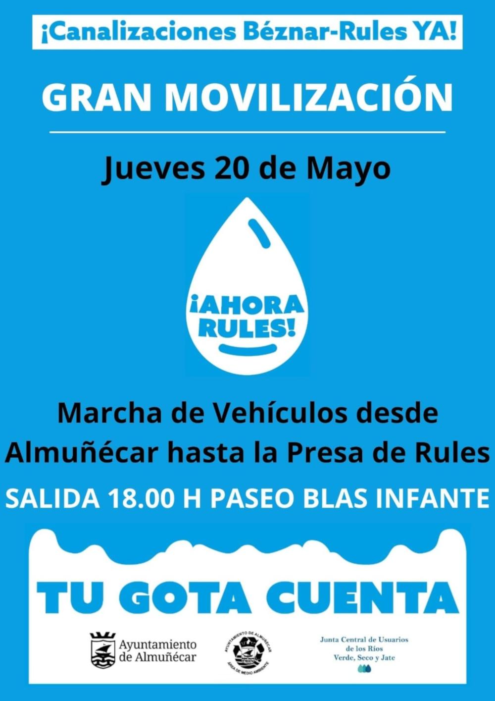 Los regantes de la comarca de Río Verde  y el Ayuntamiento de Almuñécar inician una campaña de movilizaciones por las Canalizaciones de Béznar- Rules