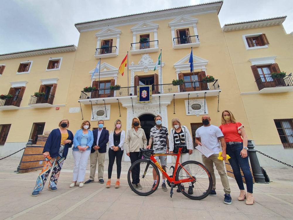 Daniel Rodríguez Pineda une Motril y Molina de Segura en un recorrido ciclista solidario de 364 kilómetros