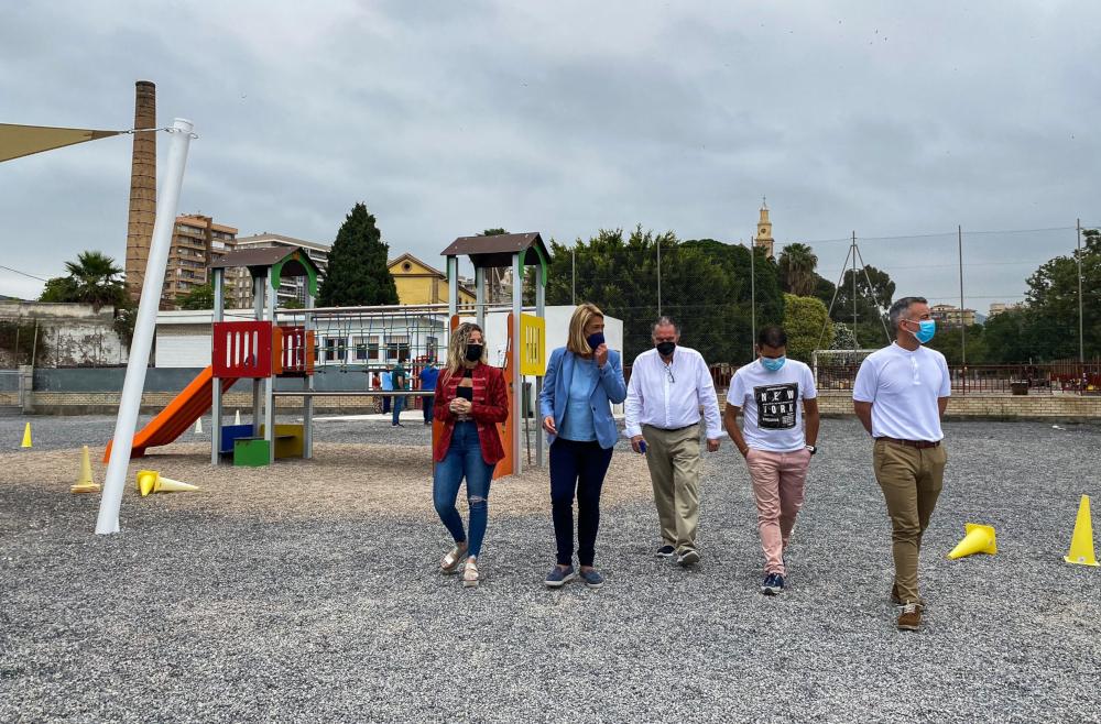 El colegio Cardenal Belluga estrena nueva zona infantil tras la integración de la antigua en el Parque