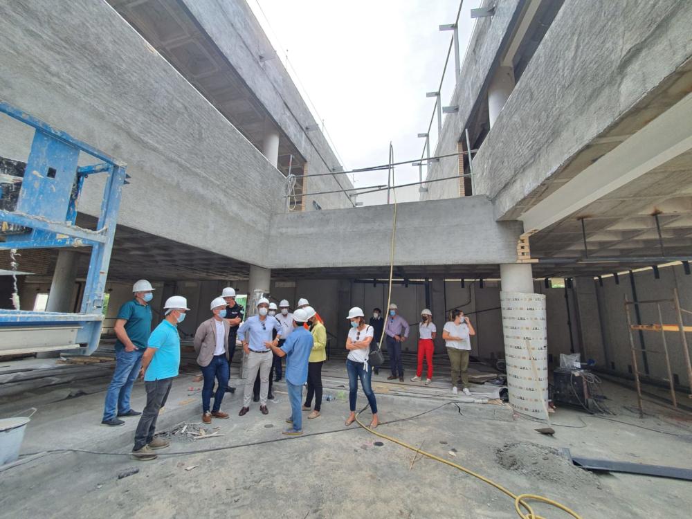 El futuro edificio de la Policía Local avanza en su construcción y cumple ya el 50% de la ejecución de la obra