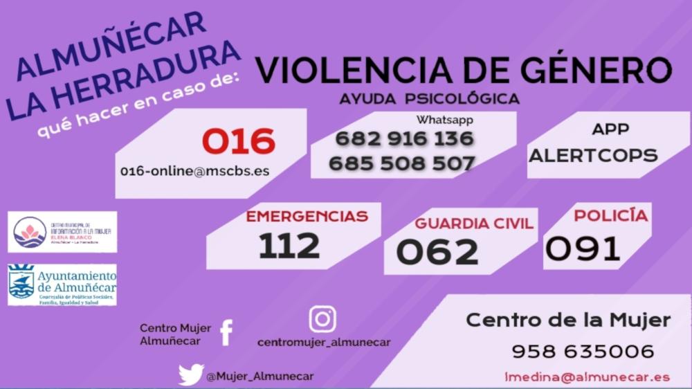 Los vecinos de Almuñécar están convocados este lunes para guardar 5 minutos de silencio por  las mujeres y niños asesinados.