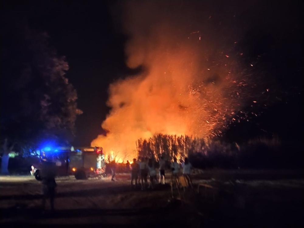 Sofocado un incendio de grandes originado en la vega de Salobreña