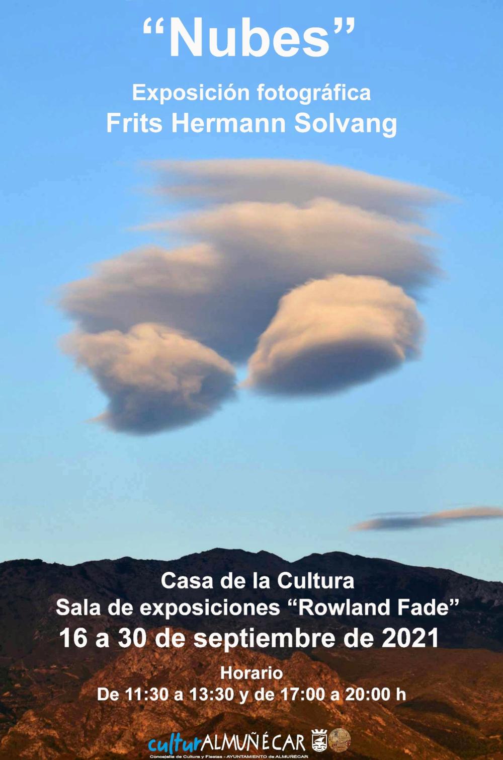 """Frits Hermann inaugura este jueves la exposición fotográfica """"Nubes"""" en la Casa de la Cultura de Almuñécar"""
