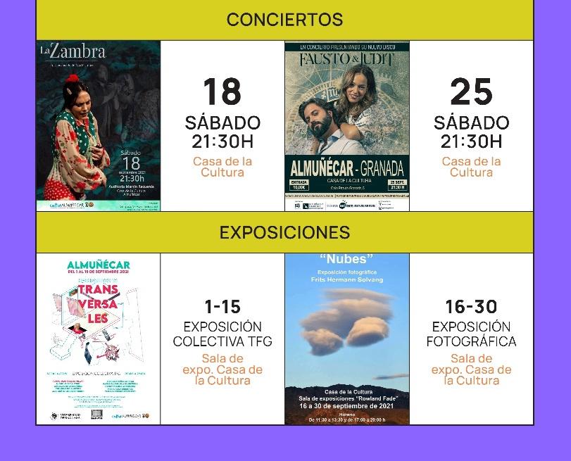 Exposiciones, música y Poesía destacan en la agenda cultural de este semana de Almuñécar